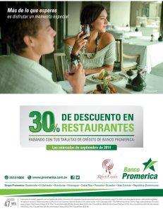 Restaurante ROBERTO CUADRA discounts Banco promerica - 03sep14