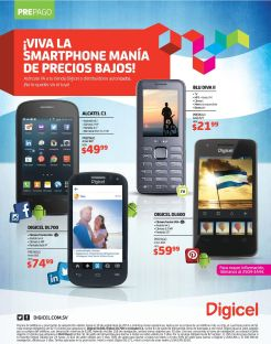 SMARTPHONE mania precios bajos en DIGICEL - 15sep14