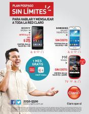 Sin limites PROMOCIONES claro smartphone - 29sep14