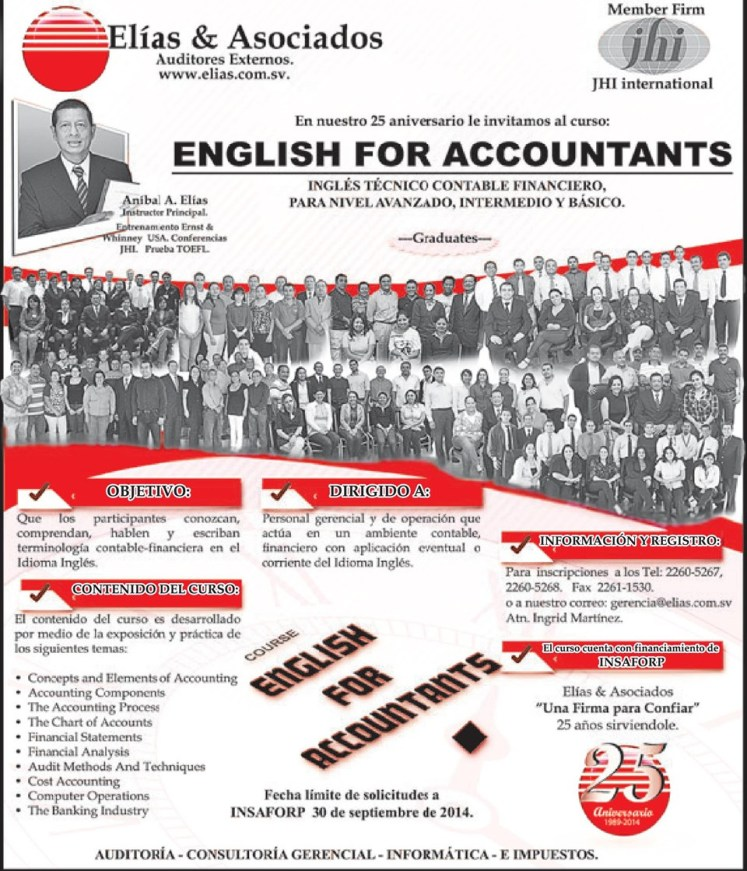 english class for accountants professional