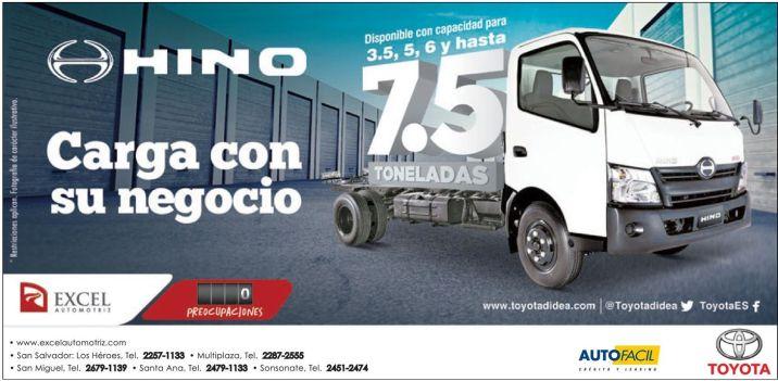 tu negocio necesita carga y fuerza HINO toyota - 25sep14
