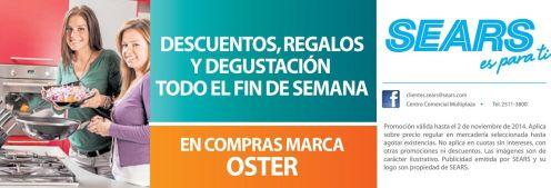 Degustaciones todo el fin de semana SEARS descuentos OSTER - 31oct14