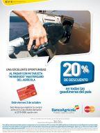 Descuento en todas las gasolineras del pais BANCO AGRICOLA - 03oct14
