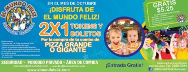El MUndo Feliz promociones 2x1 tokens y boletos - 03oct14