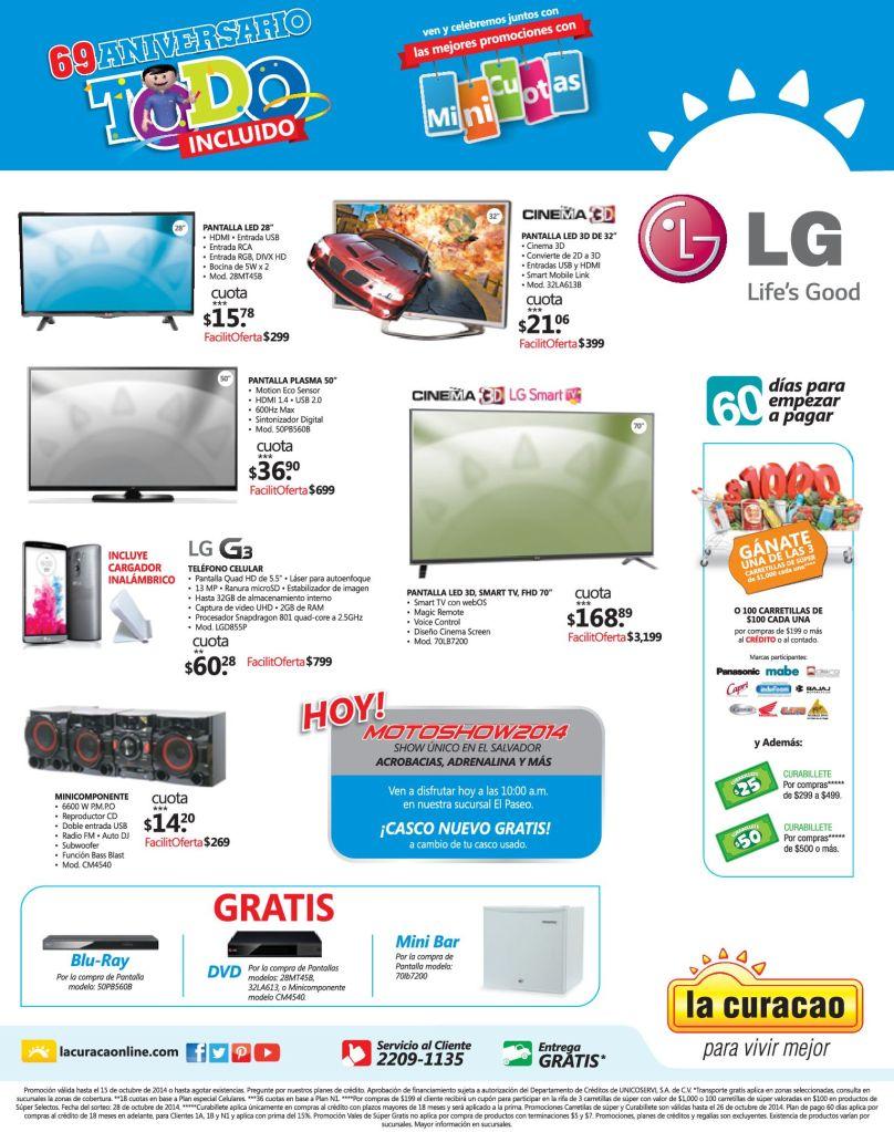 Festival de precios en tus electrodomesticos LA CURACAO - 11oct14
