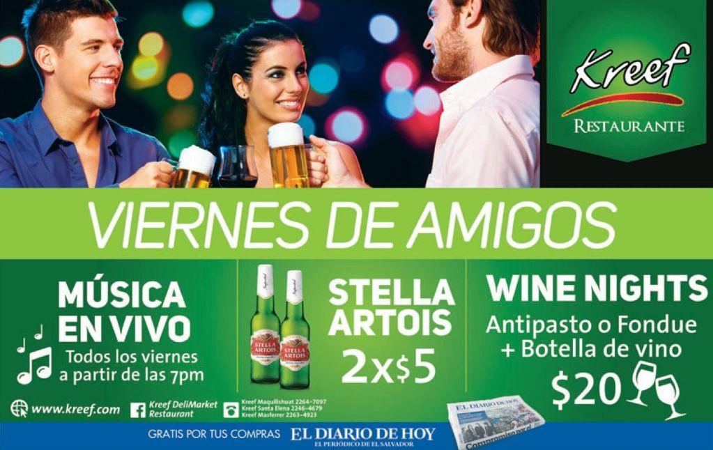 Fridays FRIENDS promotions beers KREEF restaurante - 17oct14