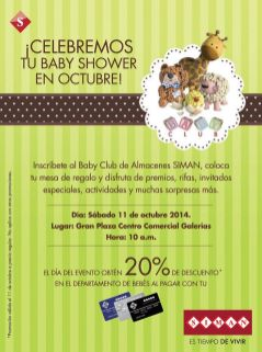 Inscribete al al BABY club SIMAN y gana BABY SHOWER - 03oct14