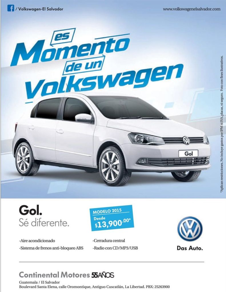 Momento VOLKSWAGEN GOL 2015 promotions savings - 21oct14