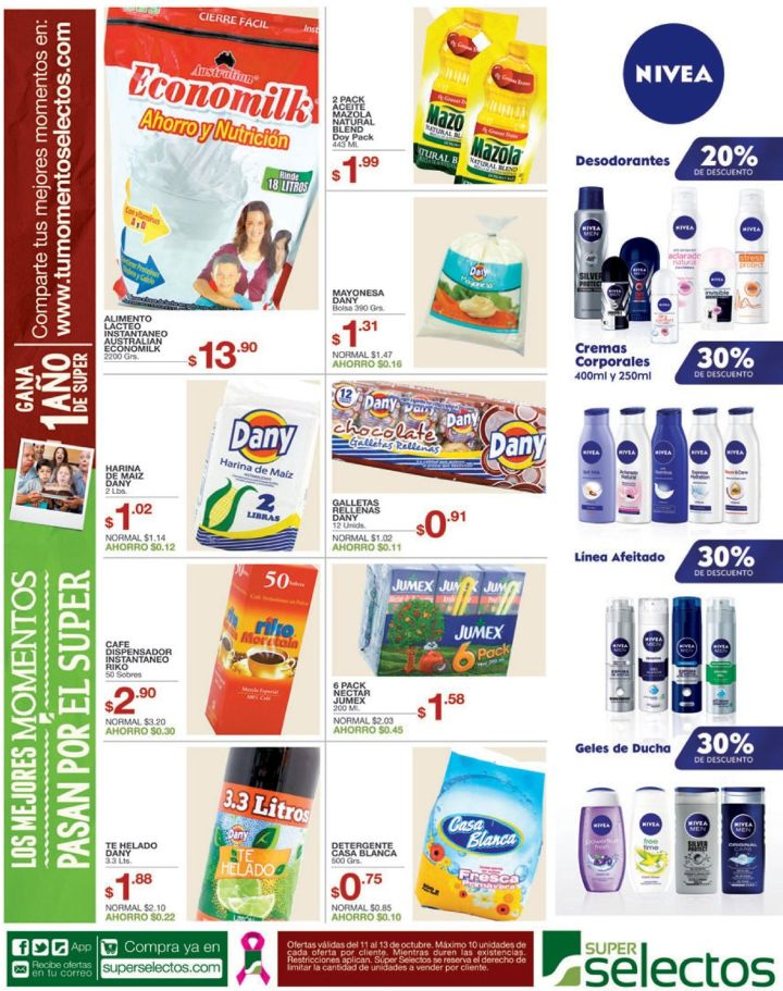 NIVEA products de cuidado personal y bellaza - 11oct14