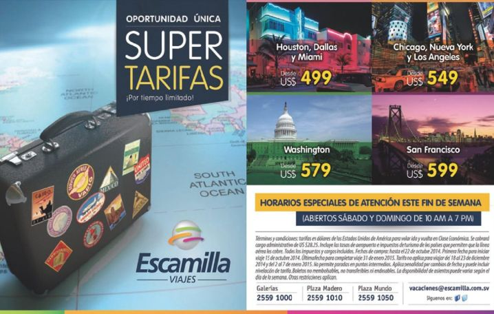 Paquetes de vacaciones y viajes a Estados Unidos - 16oct14