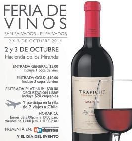 Participa en 2 viajes a CHILE feria de vinos