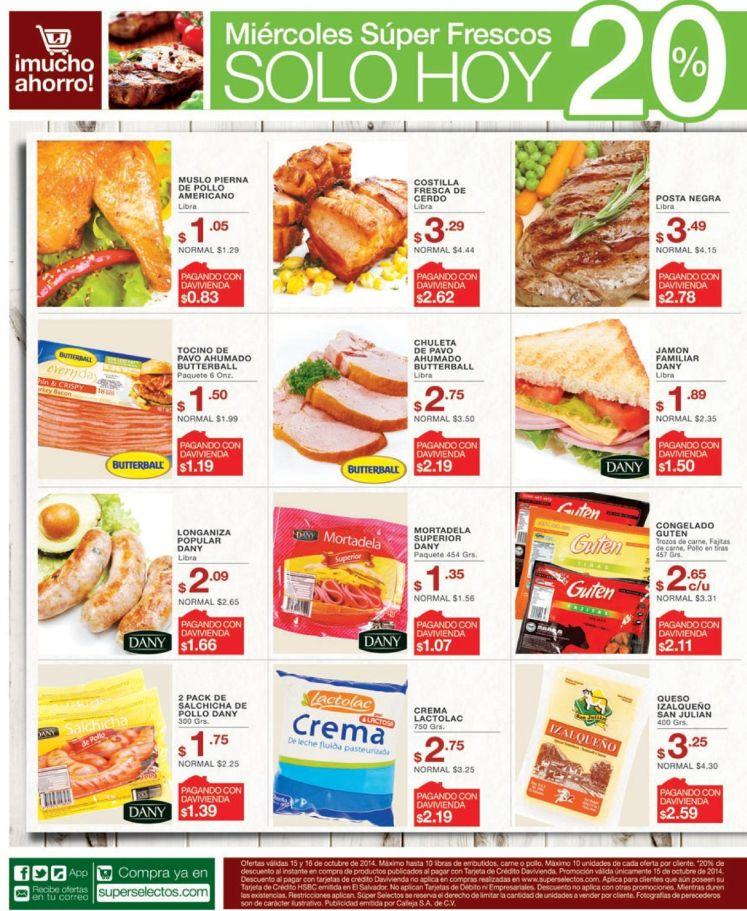 Productos congelados ofertas supermercado - 15oct14