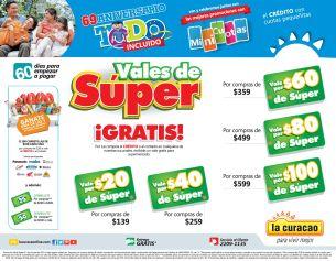 Promociones LA CURACAO vales de SUPER mercado - 03oct14
