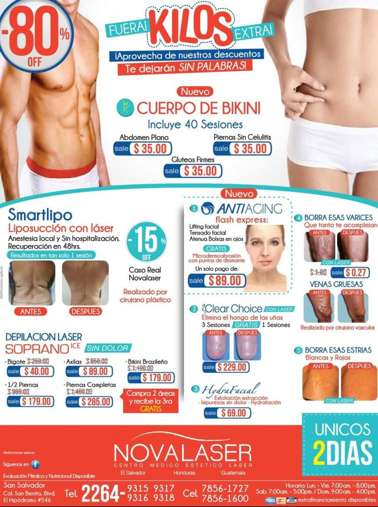 Promociones en LIFTING FACIAL anti aging - 14oct14