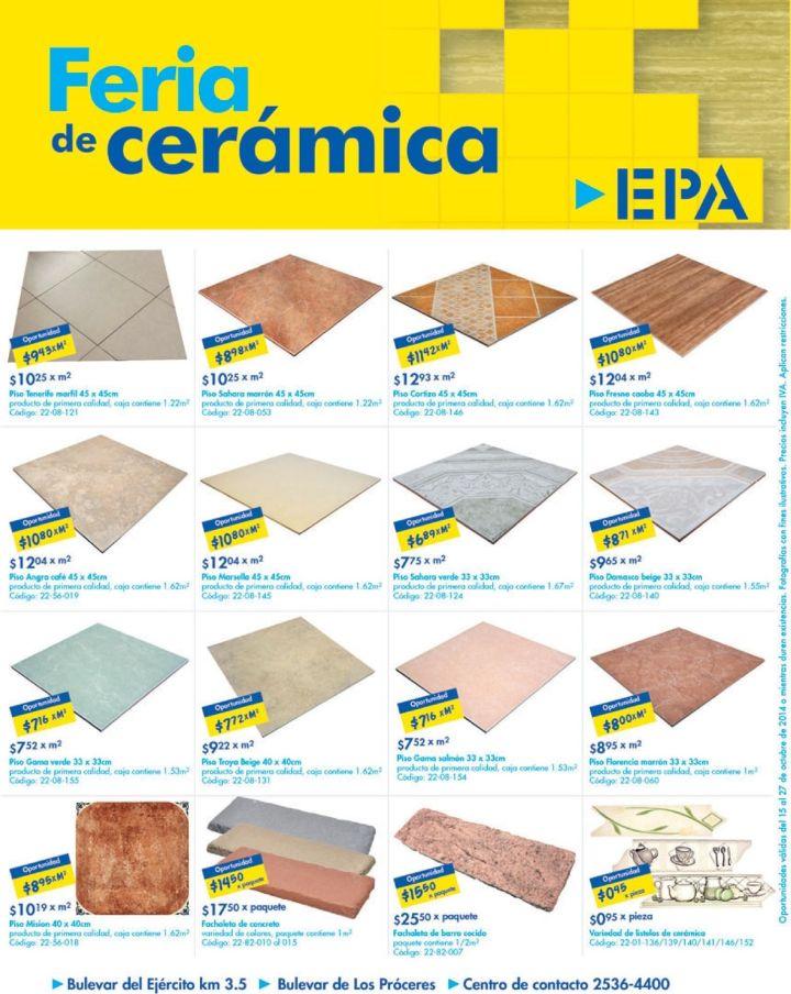 Remodelacion de tus PISOS FERIA de CERAMICA ofertas EPA el salvador - 15oct14