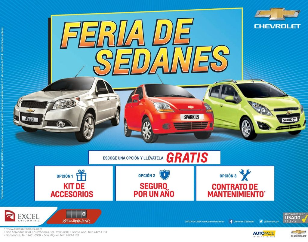 SEDANS auto fest savings - 27oct14