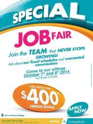 SPECIaL job fair APPLY NOW convergys