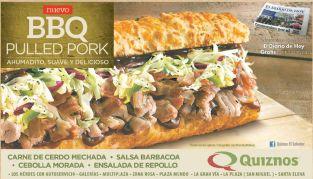Sandwiche BBQ suave ahumado delicioso