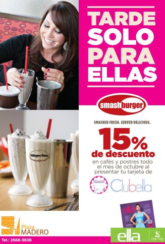Tarde solo para ella SMASH BURGER discount - 22oct14