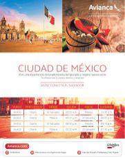 Viajes directos y diarios a mexico y el salvaor