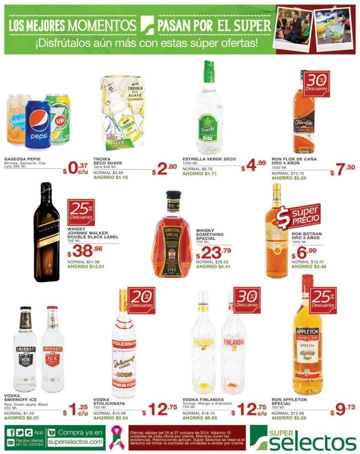 super selectos Descuentos en bebidas alcoholicas - 25oct14