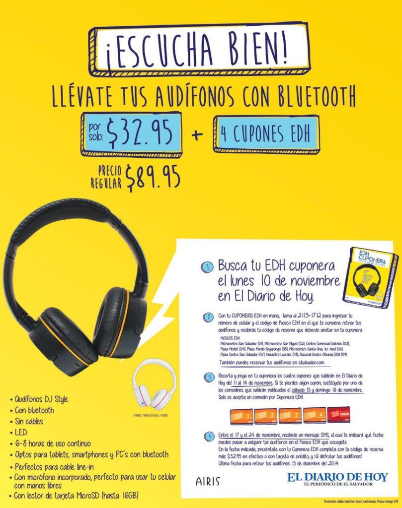 Asi se escucha MUSICA con calidad CUPONES EDH - 05nov14