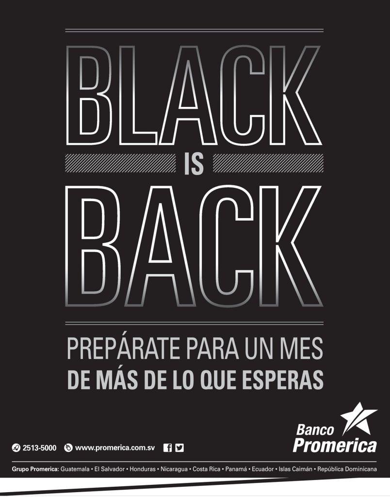 Banco Promerica promotions BLACK november 14
