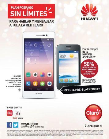 CLARO promocion pspago huawei Ascend P7 - 27nov14