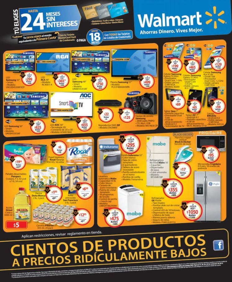 Cientos de productos BLACK WEEKEND WALMART - 28nov14
