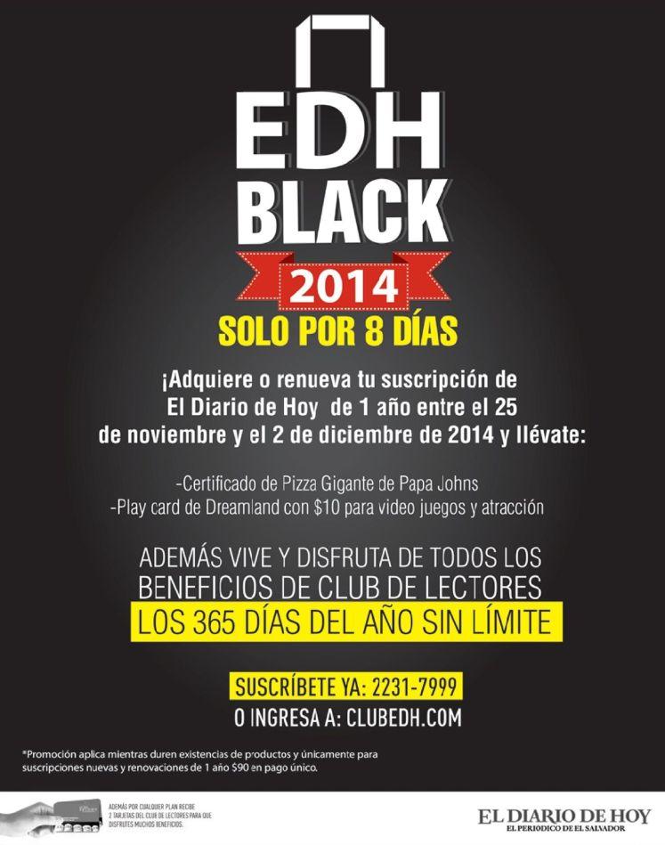EDH BLACK suscripciones - 25nov14