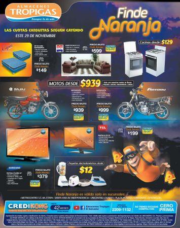 Finde NARANJA promociones almacenes tropigas - 29nov14