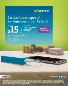 GRATIS power bank para tu celular por tus recargas MOVISTAR