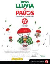 Gran lluvia de PAVOS de NAVIDAD gracias a TEXACO promociones - 05nov14