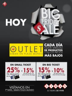 HOY big sale friday SIMAN outlet - 28nov14