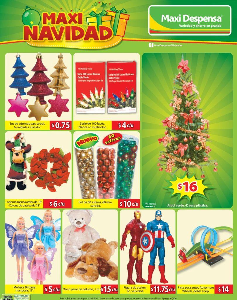 MAXI NAVIDAD juguetes y adornos - 07nov14