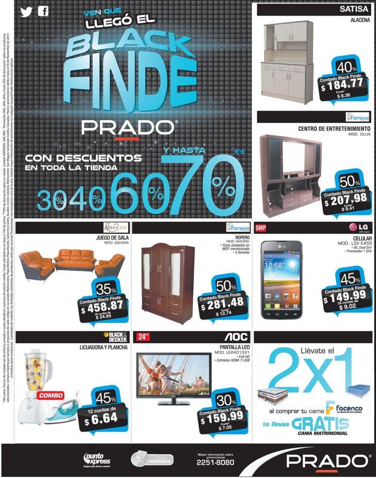 No te perdas BLACK FINDE almacenes PRADO ofertas - 29nov14