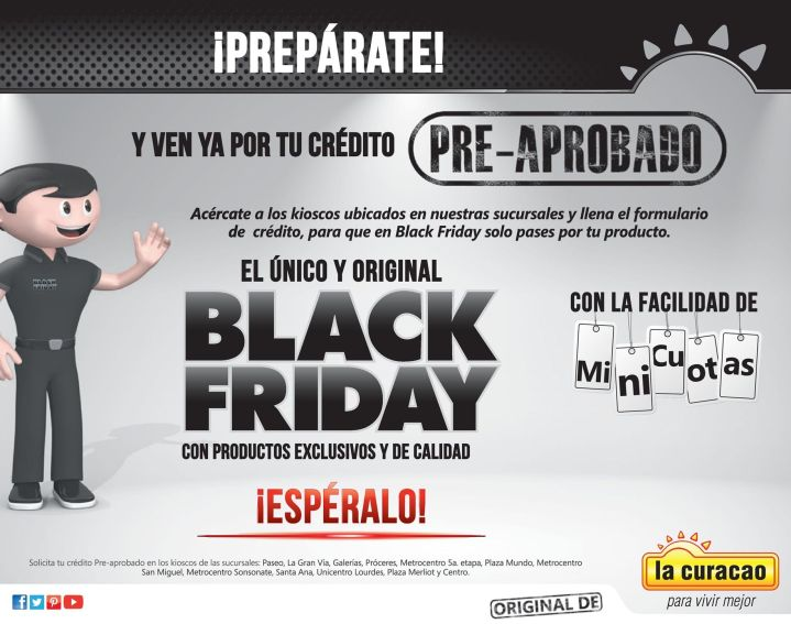 ORIGINAL black friday de la curacao autoriza ya tu credito