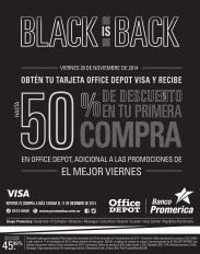 Office Depot additional discounts banco promerica - 27nov14