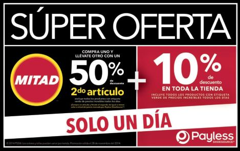 Payless promotion solo hoy - 28nov14