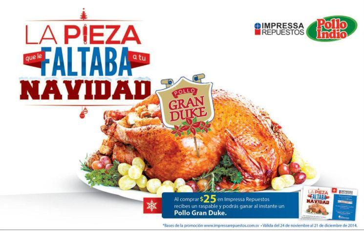 Pollo gran DUKE para navidad promociones impresa repuestos - 26nov14