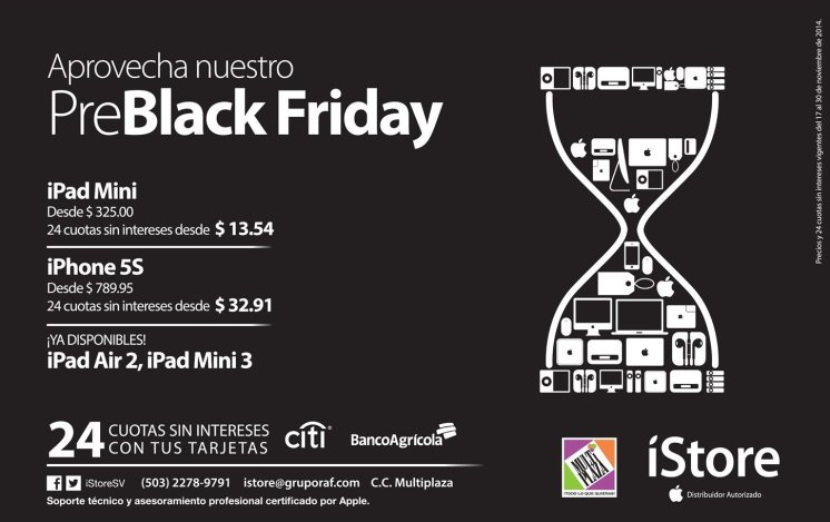Pre BLACK FRIDAY apple iStore promotions - 18nov14