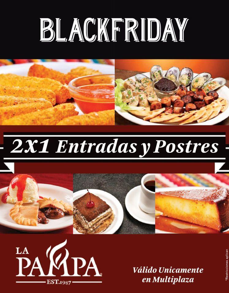 Promocion 2x1 black friday restaurante la PAMPA - 27nov14