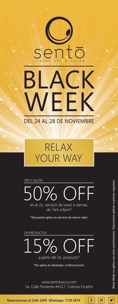RELAX your way SENTO spa black promotions - 24nov14