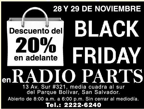 Radio Parts descuentos - 28nov14