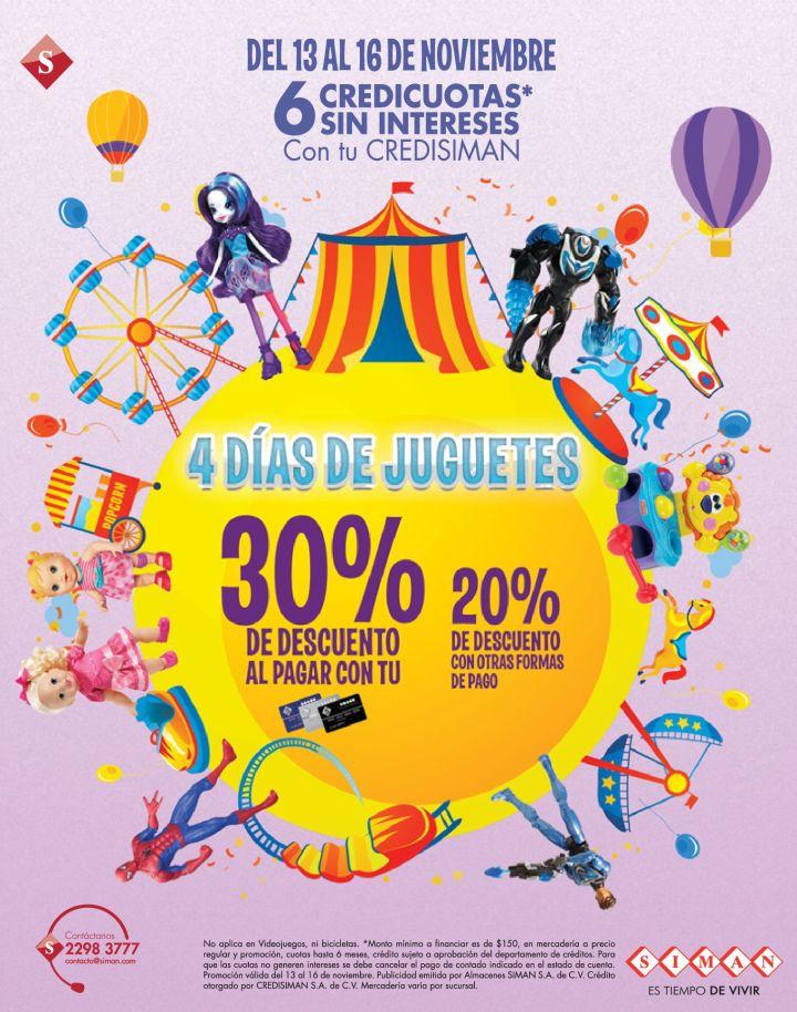 SIMAN ofertas Fin de semana JUGUETES con grandes descuentos - 13nov14