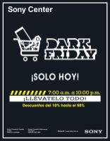 SONY CENTER present DARK friday - 28nov14