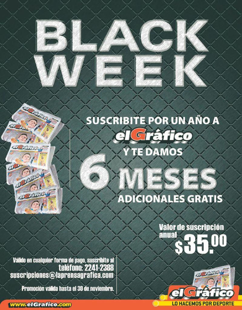 Suscribete a EL GRAFICO promocion BLACK WEEK - 24nov14