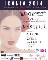 WALKIN CLOSET fashion event ICONIA 2014