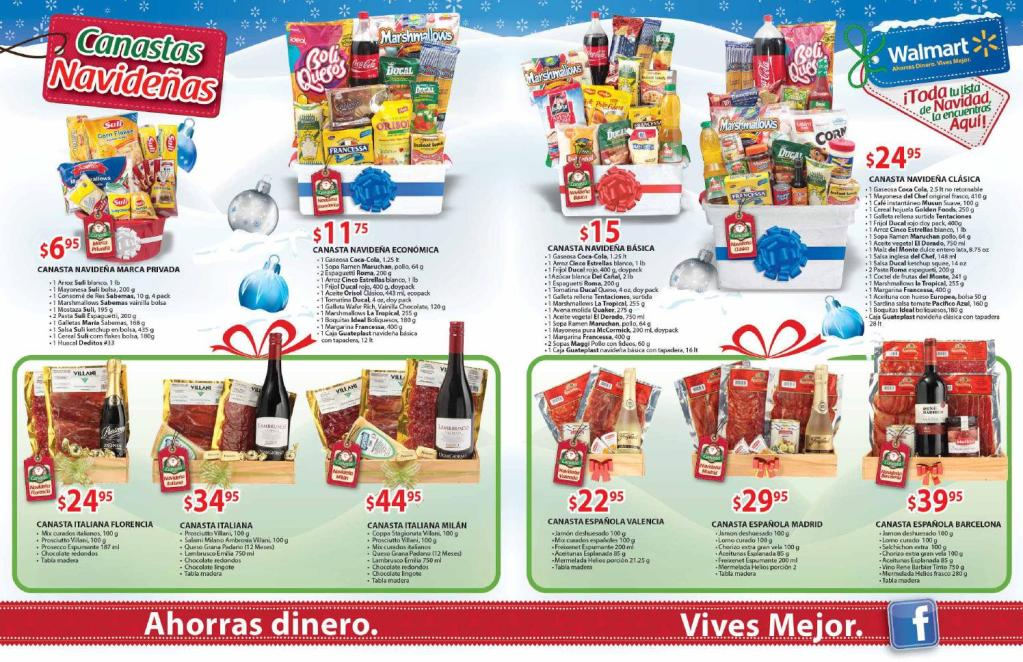 WALMART Canastas navideñas gourtmet 2014