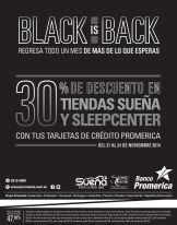 compra tu cama con 30 oFF con banco promerica BLACK friday
